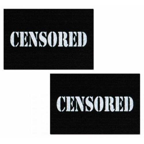 Black Censored Bar Nipple Pasties by Pastease