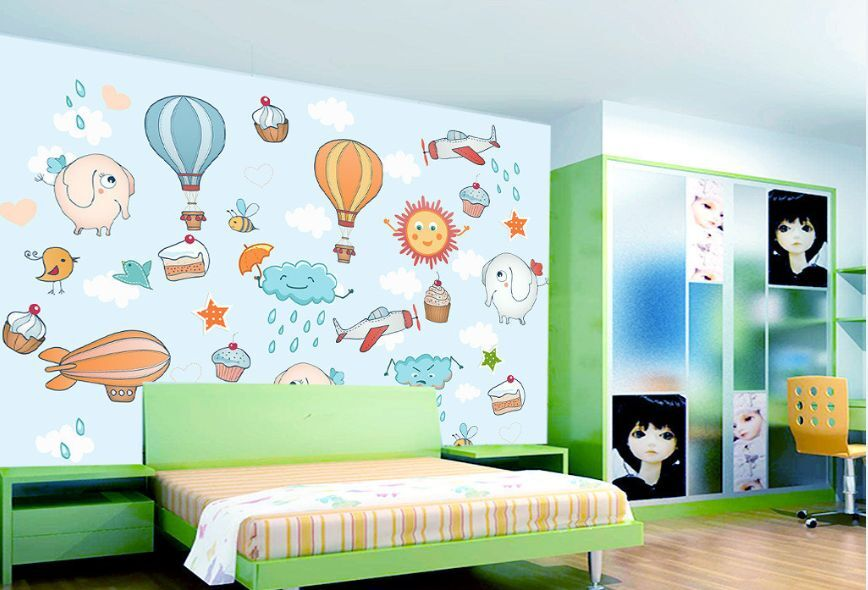 3D Cartoon Balloon 469 Paper Wall Print Decal Wall Wall Murals AJ WALLPAPER GB