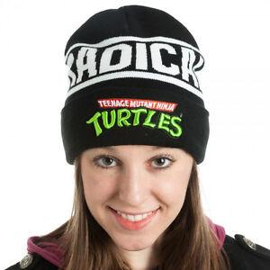 Official-TEENAGE-MUTANT-NINJA-TURTLE-CUFF-BEANIE-Turtles-Era-Men-Women-Hat-NEW