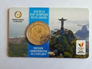 MINI SET 2 Euros BELGIQUE 2016 - Jeux Olympiques d'été de Rio - NEUF