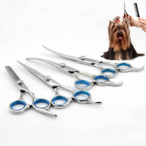6-034-7-034-Professional-Pet-Dog-Grooming-Scissors-Cutting-Thinning-Curved-Shears-US-W