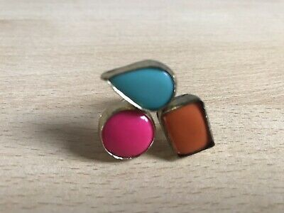 Costume Jewellery Aspiring New Look Gold Turquoise Pink And Orange Gem Ring Unequal In Performance Jewellery & Watches