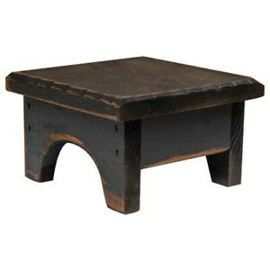Fabulous Details About 7 Square Black Distressed Wood Candle Riser Mini Step Stool 4 High Primitive Squirreltailoven Fun Painted Chair Ideas Images Squirreltailovenorg
