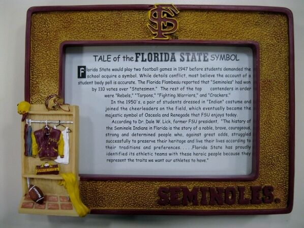 Florida State University Seminoles College Mascot Picture Frame by Talegaters