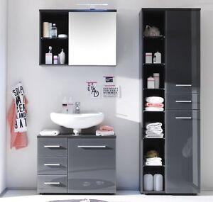 Badmobel 3 Tlg Set Badezimmer Hochschrank Unterschrank