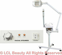 2 In 1 Facial Steamer (5x) 16 Diopter Led Magnifying Lamp Spa Salon Equipment on sale