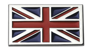 Chrome Car Emblem Union Jack Car Badge Decal Self Adhesive Sticker 3D Red UK NEW