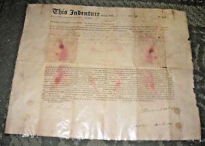 Details about 1811 INDENTURE - POUGHKEEPSIE NY - MERCHANTS' BANK NOTARY  JOHN BRUSH SIGNED