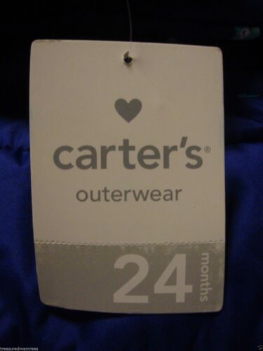 Carter/'s Puffer Coat With Attached Hood ~ Pick Your Size /& Color ~ NWT