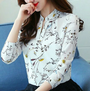 Blusa-de-Mujer-Tops-camisa-de-manga-larga-de-Moda-Elegante-Blusas-Ropa-Mujeres