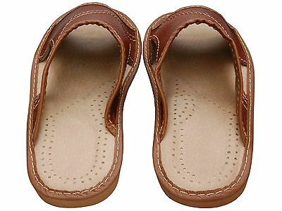 Herren Hausschuhe - Größe 40-46 - Echtleder - Latschen,Pantoffeln - XC51-KO