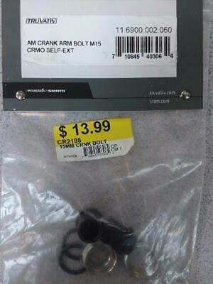 BRAND NEW TRUVATIV SRAM M15 SELF EXTRACTING GXP ALUMINUM CRANK ARM BOLT 1ps