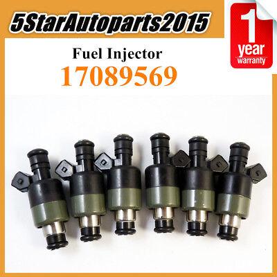 6 x Fuel Injector for Chevrolet Buick Pontiac Oldsmobile V6 2.8 3.1 3.3 17089569
