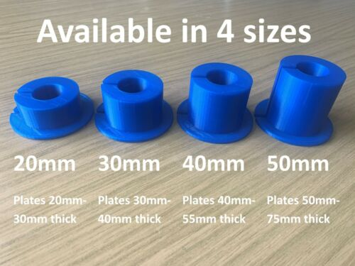 Olympic plate to 25mm adapter 30mm Thick pair -TPU 3D printed Blue or Black