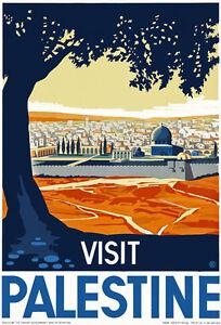 T84-Vintage-Visit-Palestine-Travel-Poster-A1-A2-A3