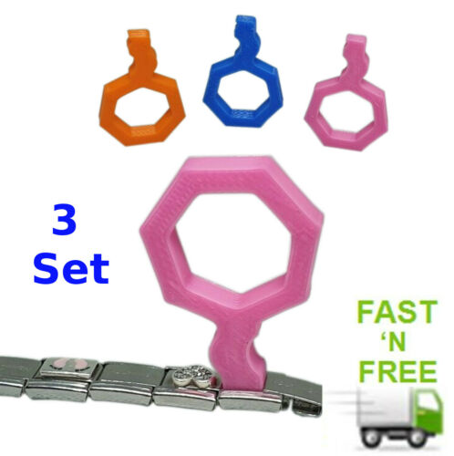 Italian charm composable bracelet classic link adding removal tool set of 3