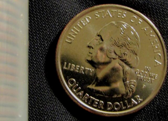 2000 Massachusetts State Quarter BU Uncirculated Coin Two Toned Money Clip New