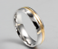 Anello-Anelli-Coppia-Fedi-Fede-Fedine-Fidanzamento-Nuziali-Cristallo-Oro-Fascia miniatura 5
