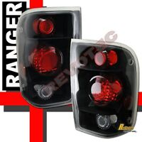 1998-2000 Ford Ranger Pickup Black Tail Lights Lamps 1 Pair