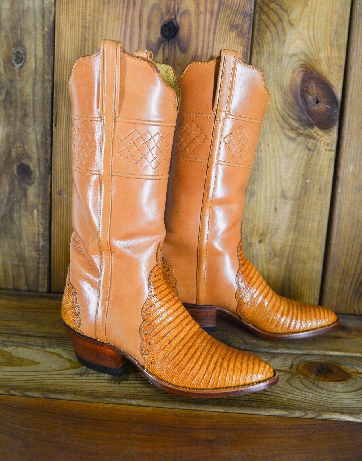 Vintage T.O. STANLEY Lizard 6.5 Size 6.5 Lizard B Women Custom Exotic Handmade Cowboy Stiefel cff0d6