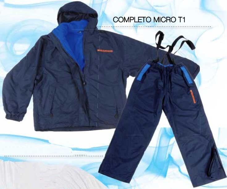 KP1775 completa Trabucco Pesca Micro T1 XL microfibra Fleece Ropa