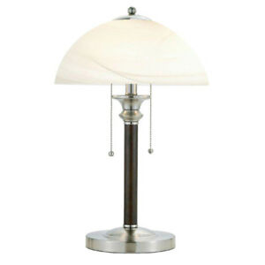 Table Lamp 22 5 Inch On Off Switch Alabaster Frosted Glass Shade