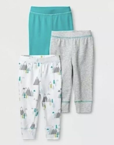 Cloud Island Baby Boys/' 3 Pack Pants Gray Aqua Size 6-9 12 Month