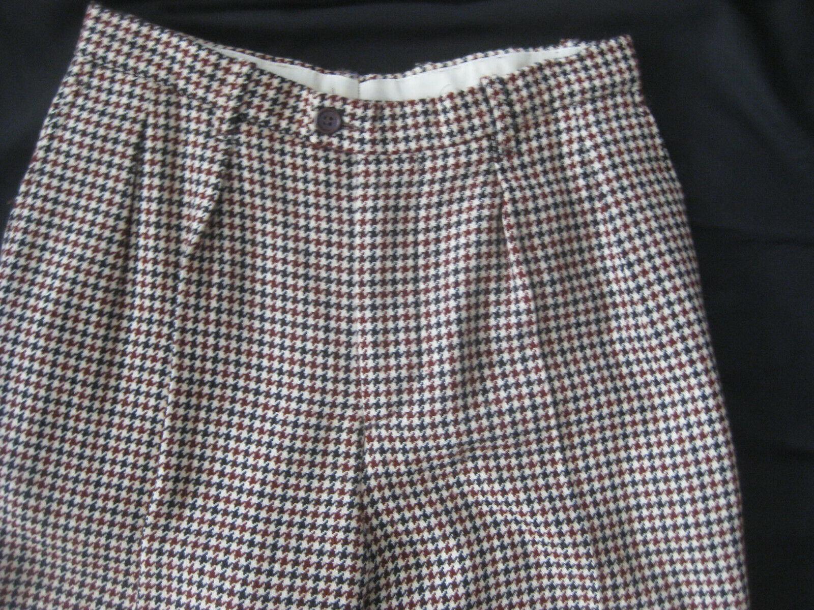 1980s KENZO Paris Wool HOUNDSTOOTH PLAID Pleat Fr… - image 2