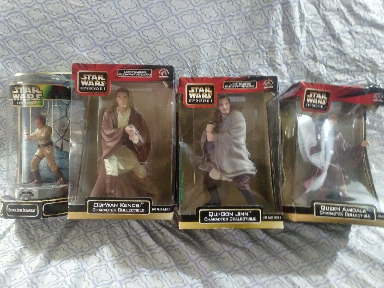 Los 4 star wars action - figuren episode 1 12  epischen forceskywalker qui - gon obi - wan