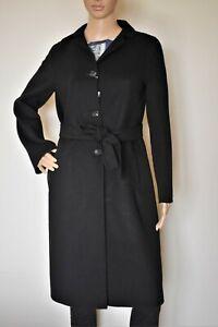 S-039-MAX-MARA-Wool-Blend-Coat-in-Black-Size-12-US-14-GB-42-DE-46-IT