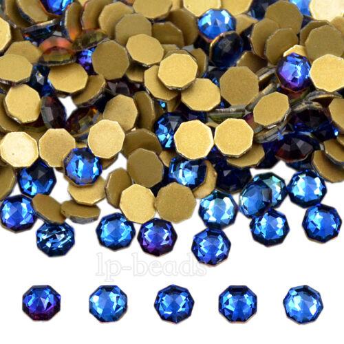 Top Quality Crystal Nail Blue AB No Hotfix Rhinestone Flatback Art Decoration