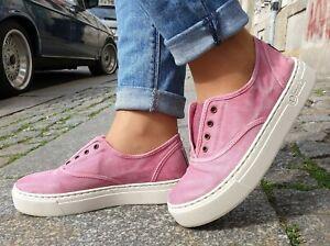 Natural-World-Schuhe-6112E-603-Rosa-enz-Baumwolle-Damen-Sneaker-Wechselfussbett
