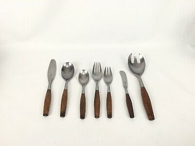 * Dansk * Fjord Teak Wood Stainless Steel Flatware 4 Ducks Ihq Quistgaard Choice Precio De Venta Directa De FáBrica