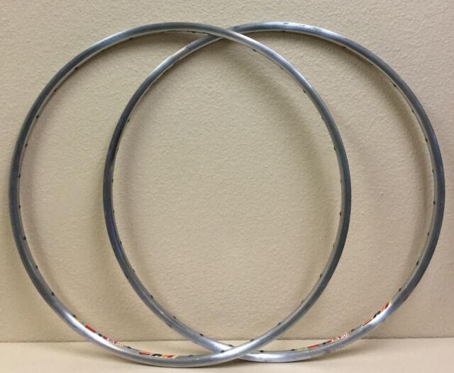 2 rims NOS Ambrosio 19 Extra silver polished clincher Rimset 700c//622mm 32 h.