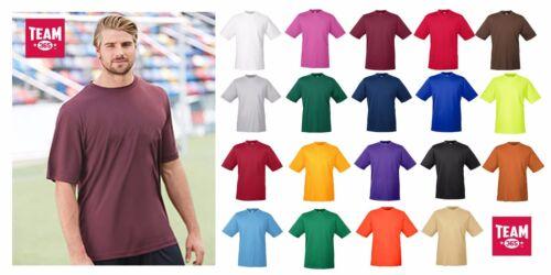 Team 365 Men/'s Zone Performance T-Shirt w// UV Protection XS-4XL gym fitness TT11