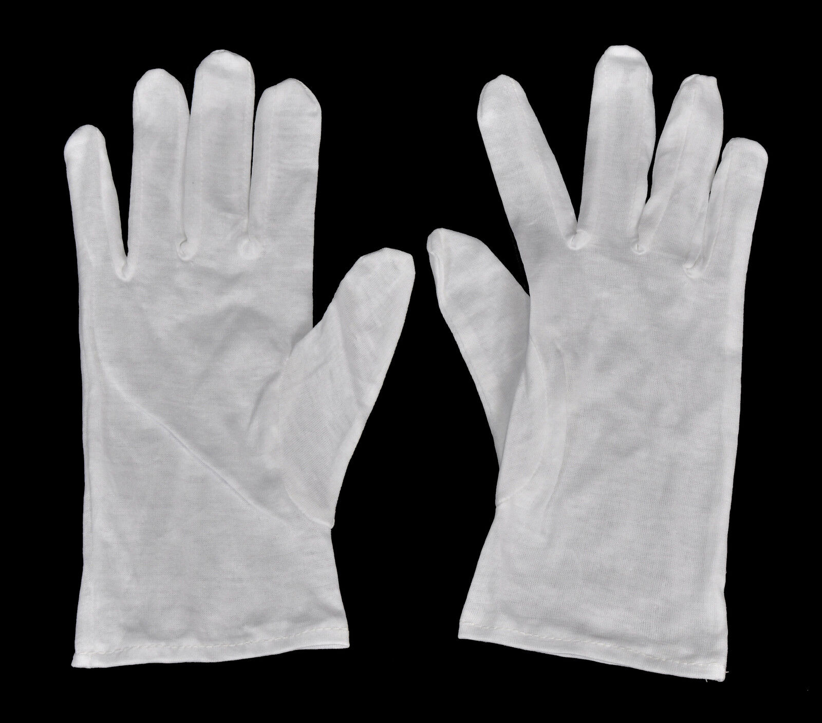1 Pair White Lab Gloves - Size L - from Cotton - New