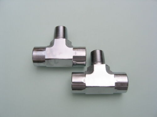 """Chrome /& Polished Lowrider Hydraulics fittings 3//8/"""" Branch Tee fittings Kit 2"""