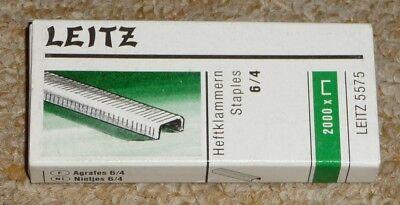 Leitz 2000 Heftklammern 5575 Verzinkt 6/4 Für Heftzange Made In Germany Neu, Ovp