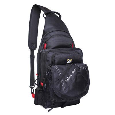 Outdoor Fishing Sling Pack Lure Bag Shoulder Backpack Fishing Chest Bag USA S6N9