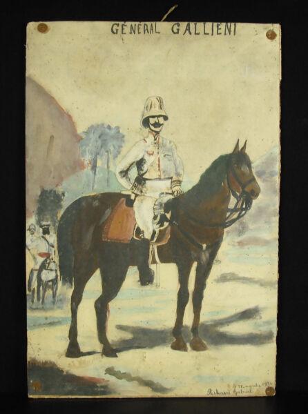 Aquarell General Gallieni Madagaskar Kolonien Unterzeichnet Richard Gabriel 1934