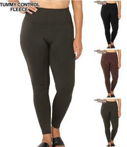 Plus-HIGH-WAIST-Tummy-Control-Fleece-Leggings-1X-2X-2X-3X