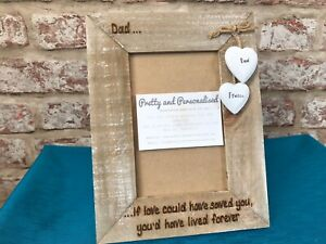 Forever Friends Engraved Personalised Photo Frame Driftwood Style Wooden