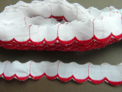 mercerie liseret galon bordure rouge 1mx1.5 cm@olds lace