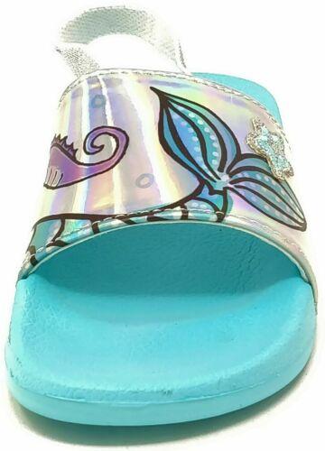 Enfants Enfants Filles Sirène curseurs Vacances Piscine Chaussures Sandales Taille 5-12
