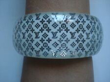 Wide-Band huge Chunky Louis Vuitton Platinum Inclusion 8 Bangle Bracelet~Free SH