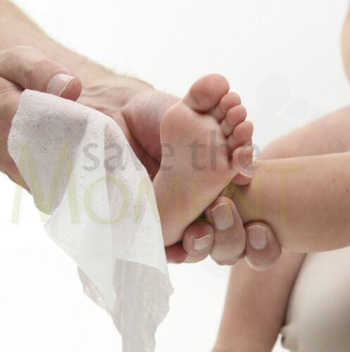 Personalised Hand print Footprint Kit Baby Shower Gift Christening White Frame