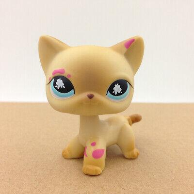 Littlest Pet Shop LPS 816 Shorthair Cat Gift For Kid Splatter Paint Messiest Toy