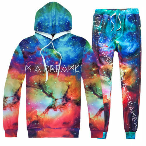 Men Women 3D I/'M A DREAMER Print Hoodies Sweatshirt pants Tracksuit sweat suit