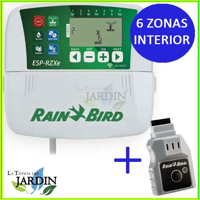 WIFI LNK PROGRAMADOR RAIN BIRD RZX 6 ZONAS INTERIOR CONTROLADOR JARDIN RIEGO 24V