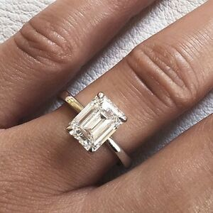 2-00-Ct-Emerald-Cut-Natural-Diamond-Engagement-Solitaire-Ring-H-VS2-GIA-18K